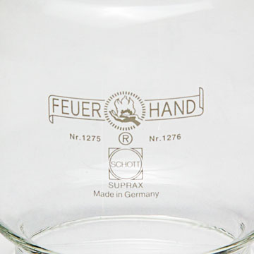 The transparent glass for the hurricane lantern Feuerhand 276.
